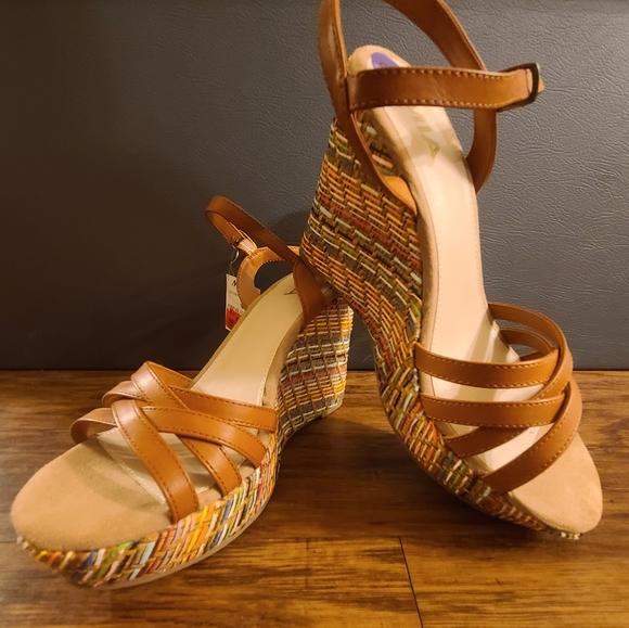 Women's Mia Multicolored Rattan Wedge Sandal